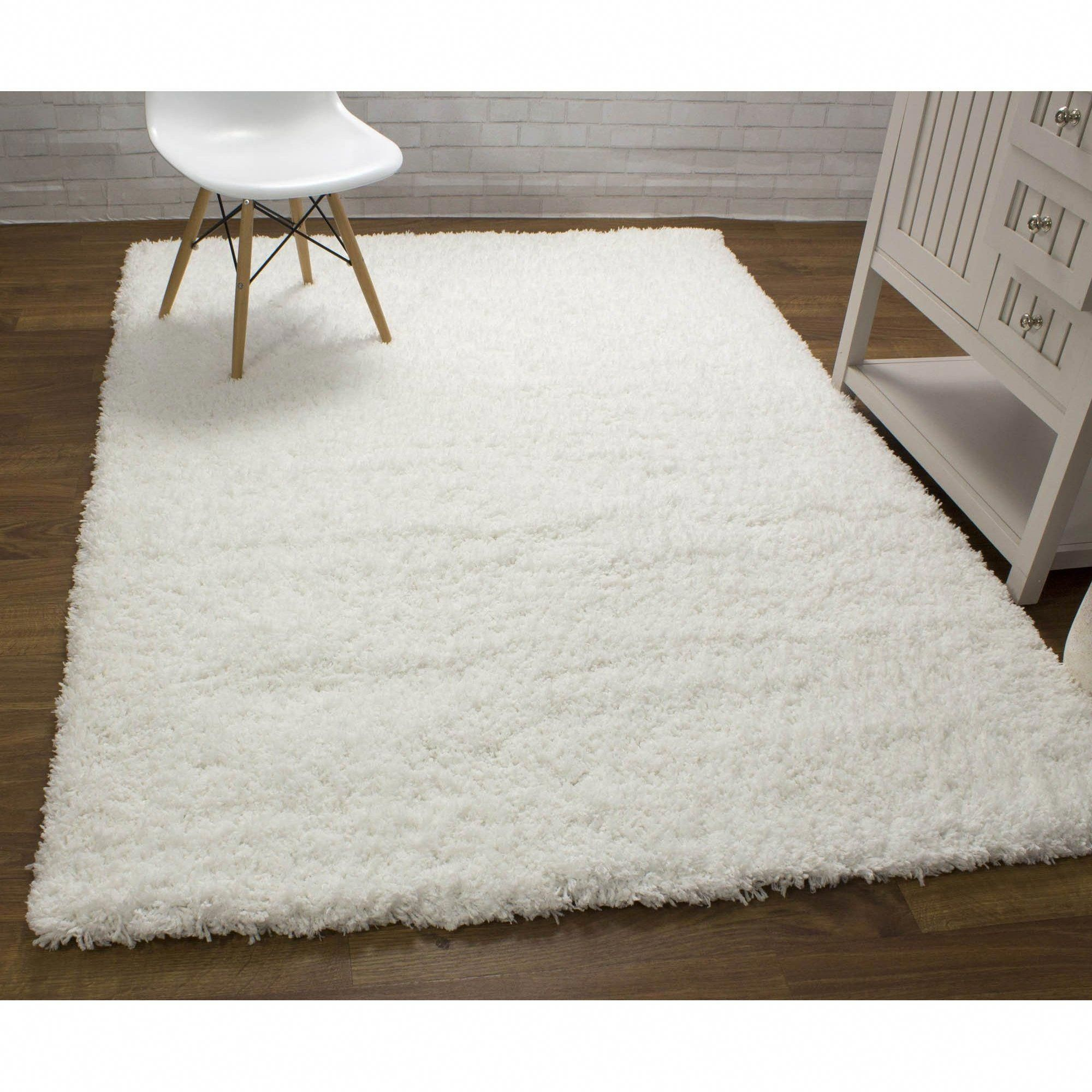 Shag Rug White High Quality Carpet Polyester Decor Decorating Rugs Floors Myhomeisbetterthanyours Floorcoverings White Area Rug Quality Carpets Area Rugs