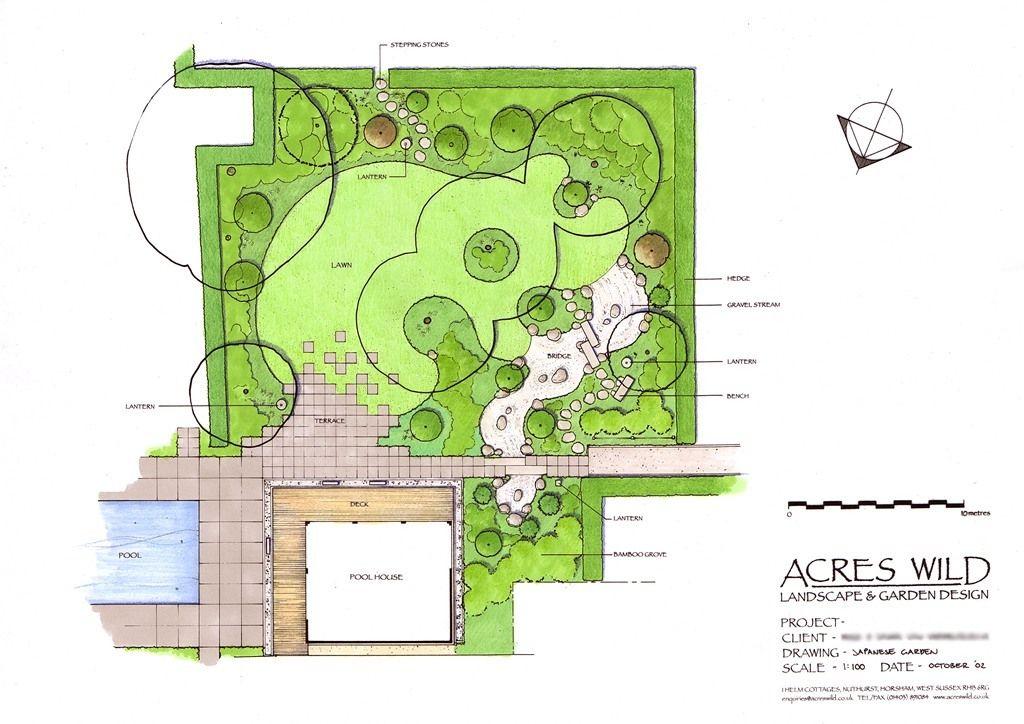 Masterplan of Japanese Garden by Acres Wild Garden