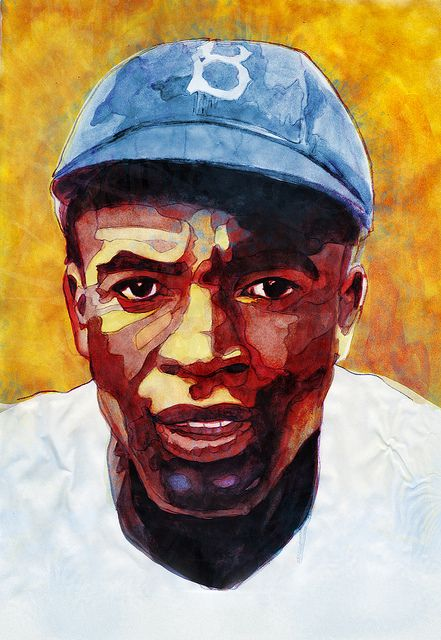 Andy Heckathorne Jackie Robinson Baseball Art Sports Art