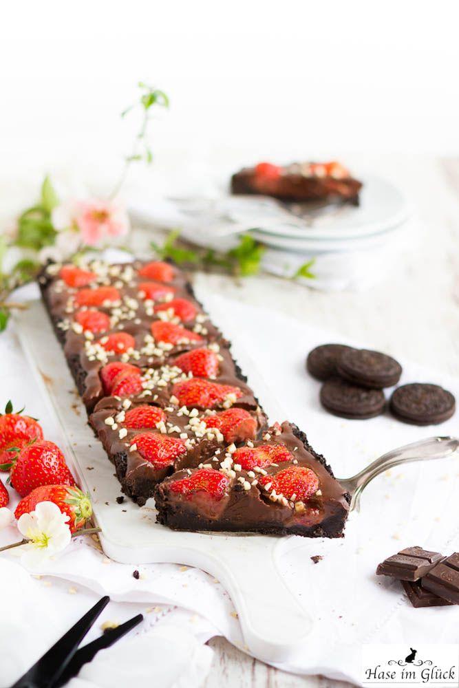 Erdbeer Schoko Tarte Ohne Backen Rezept Food Drinks