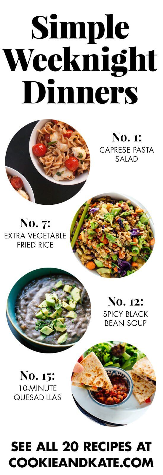 20 Simple Vegetarian Dinner Recipes Cookie And Kate In 2020 Easy Vegetarian Dinner Vegetarian Recipes Dinner Healthy Vegetarian Recipes Dinner