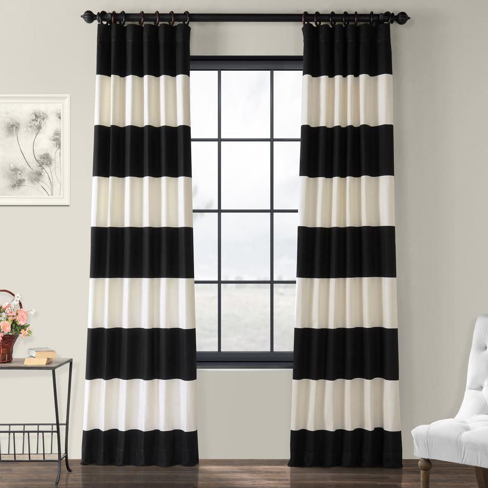 Exclusive Fabrics Furnishings Onyx Black And Off White Room