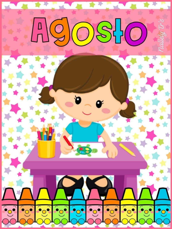 Portada Agosto Dibujos Para Preescolar Decoraciones Escolares Decoracion Preescolar