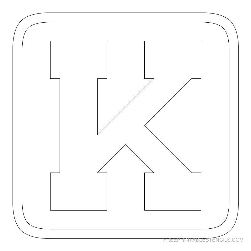 printable block letter stencil k letter stencils block lettering fall decorations sorority