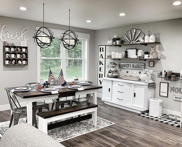 10 Walmart Farmhouse Furniture Finds Bold Boundless Blonde Farmhouse Kitchen Decor Farmhouse Decor Living Room Farmhouse Dining