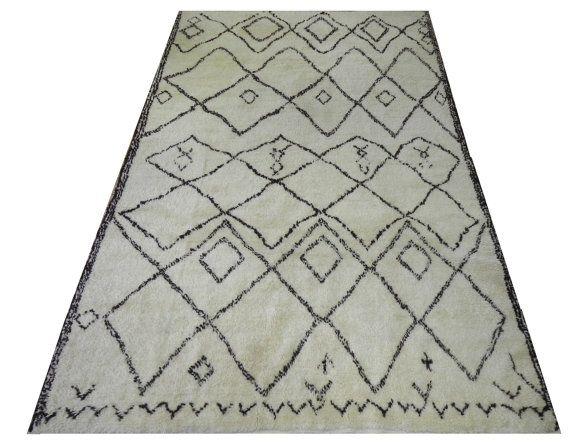 Ivory Amp Brown Moroccan Berber Beni Quarain Design Rug 6