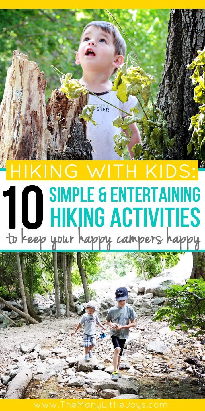 10 simple activities that will make hiking fun for kids is part of Cool Kids Crafts For Boys - Want to get your family out in nature, but tired of the complaints  Try out these 10 activities that will make hiking fun for kids (and grownups, too)