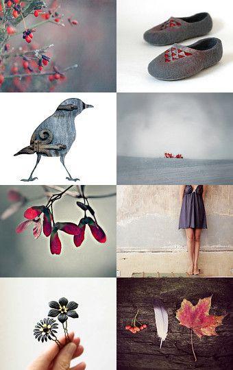 Winter Holly by Ex Libris on Etsy-- https://www.etsy.com/nz/shop/ExLibrisJewellery
