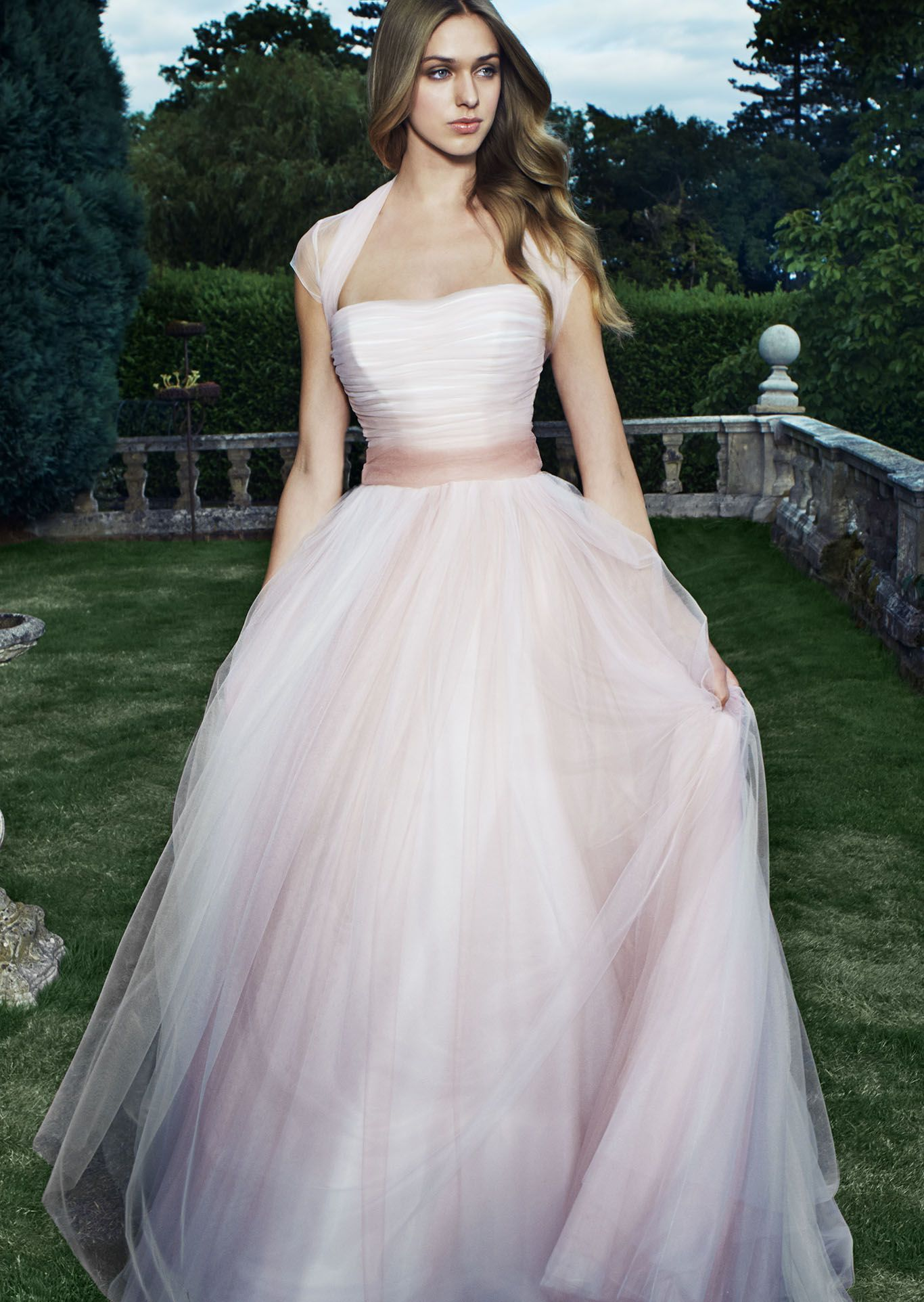 Vintage Rose 2014 Catwalk Runways Pink wedding dresses