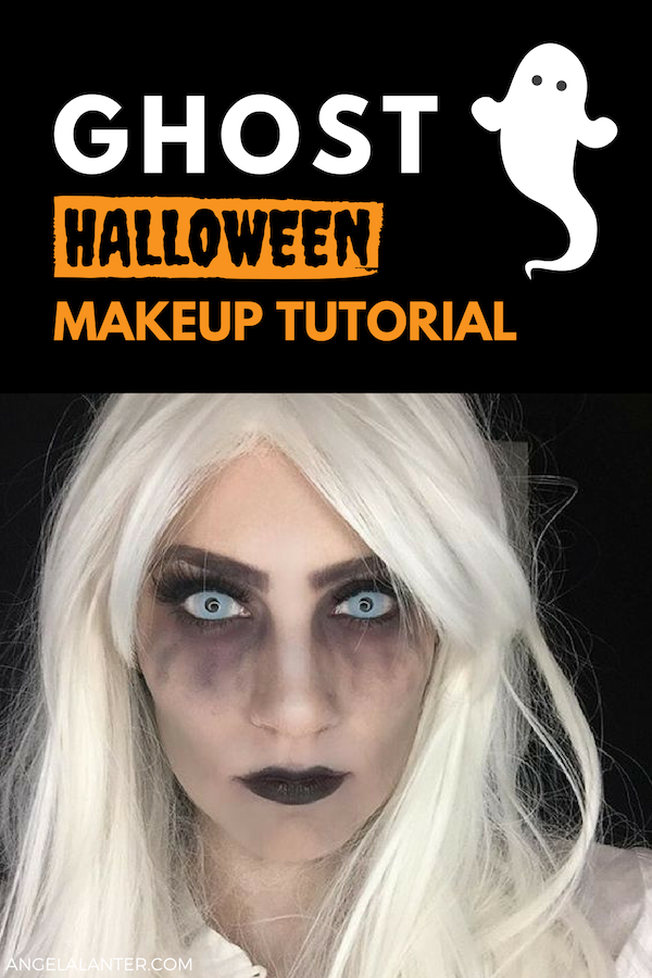 Easy To Follow Tutorial Ghost Makeup Tutorial For Halloween Angela Lanter Halloween Ghost Ma Ghost Makeup Halloween Makeup Tutorial Halloween Makeup Easy