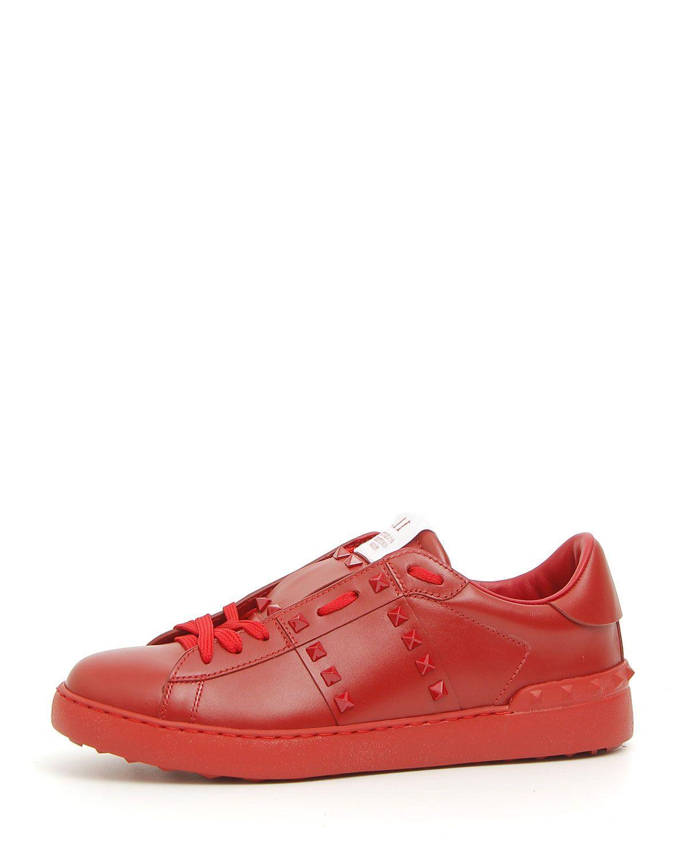 69893037e Valentino Garavani Rockstud Untitled Men's Leather Low-Top Sneaker