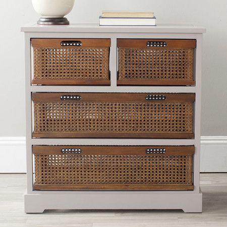 Large Storage Cabinet Wicker Basket Storage Unit Drawer Storage