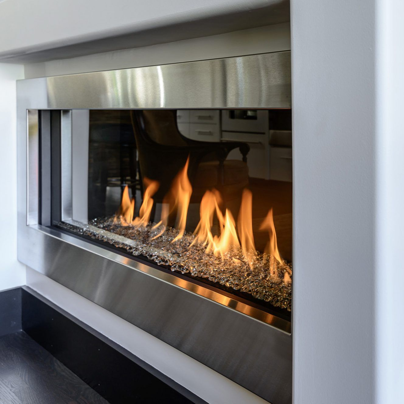 simple is the new bold see elegant contemporary gas fireplaces rh pinterest com Propane Gas Fireplace Inserts Natural Gas Fireplace Inserts
