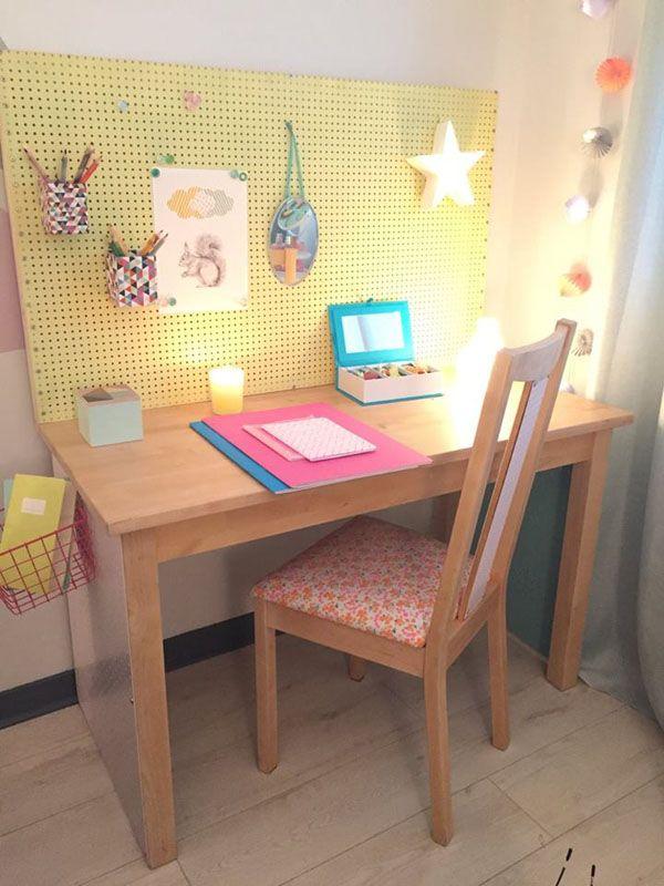 Rangement de bureau : Un DIY pour bureau d\'enfant par Aurélie Hemar ...