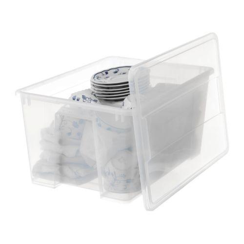 samla bac avec couvercle transparent couvercle transparent et ikea. Black Bedroom Furniture Sets. Home Design Ideas