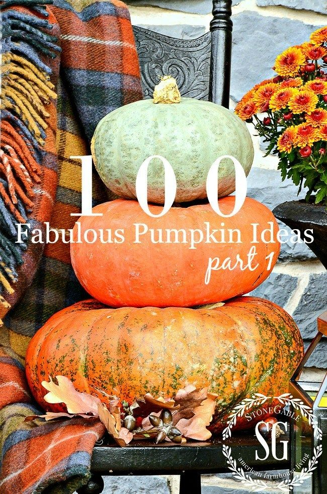 100 FABULOUS FALL PUMPKIN IDEAS, PART I Pumpkin ideas, Fall