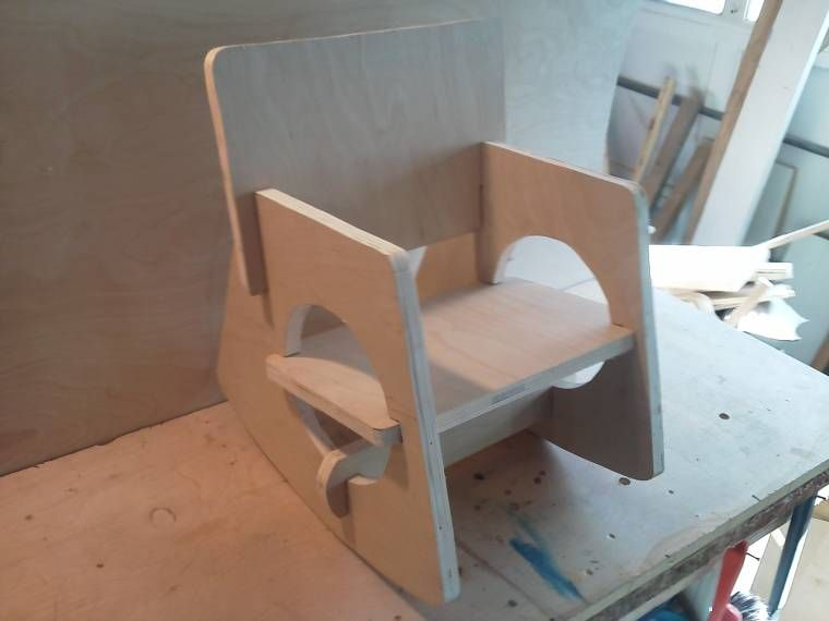 Toddlers Rocking Chair, Handcrafted, No Nails, No Glue, Unfinished. Sturdy  And