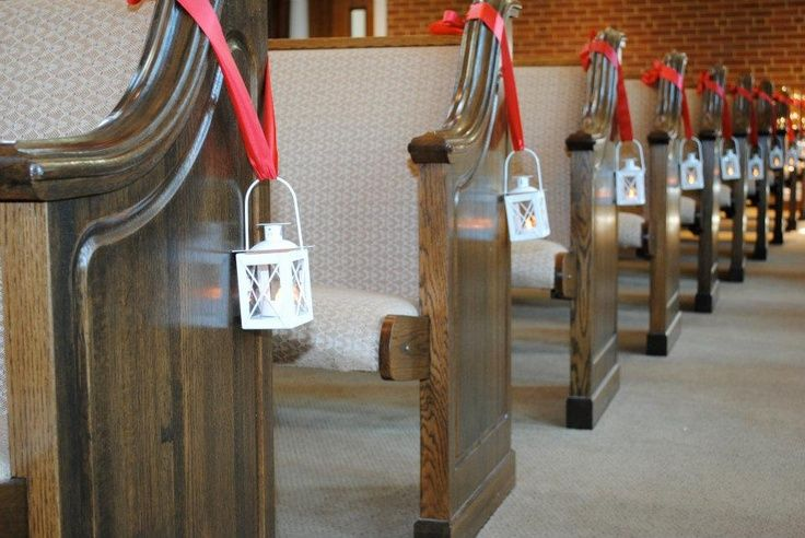 Church pew wedding decorations uaing lanterns lanterns as aisle church pew wedding decorations uaing lanterns lanterns as aisle decorations wedding ideas junglespirit Image collections