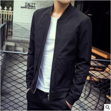 9941a7a4622 men jacket spring jacket men Spring new men s jacket Korean version of casual  Slim solid color coat free shipping