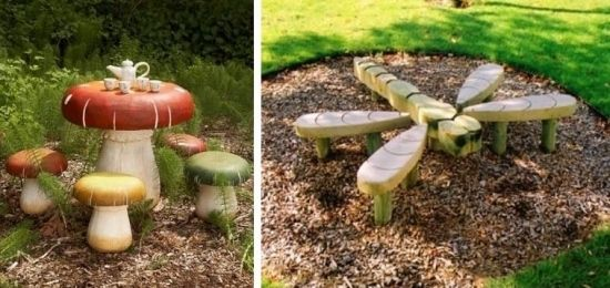 Überdachter Spielplatz Holzmöbel für Kinder Into Our Woods - garten selbst anlegen