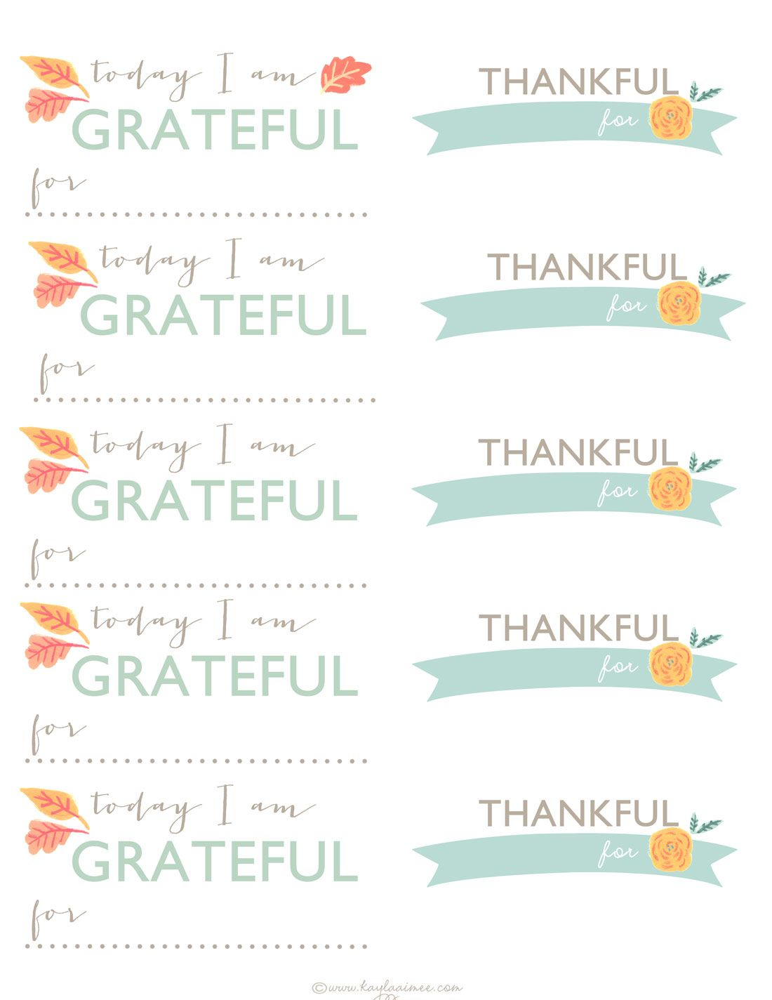 Thanksgiving Gratitude Jar Free Printable Thankful Cards