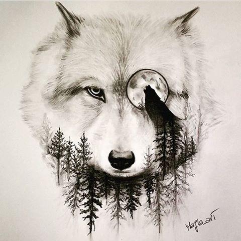 Pin de Juani Diaz en Lobos Pinterest Tatuajes, Lobos y Ideas de