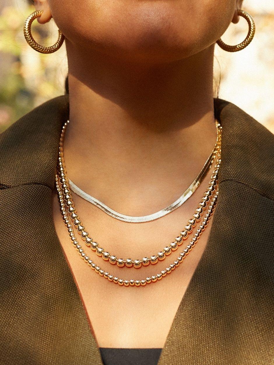 Gia Necklace Necklace Herringbone Necklace Shop Necklaces