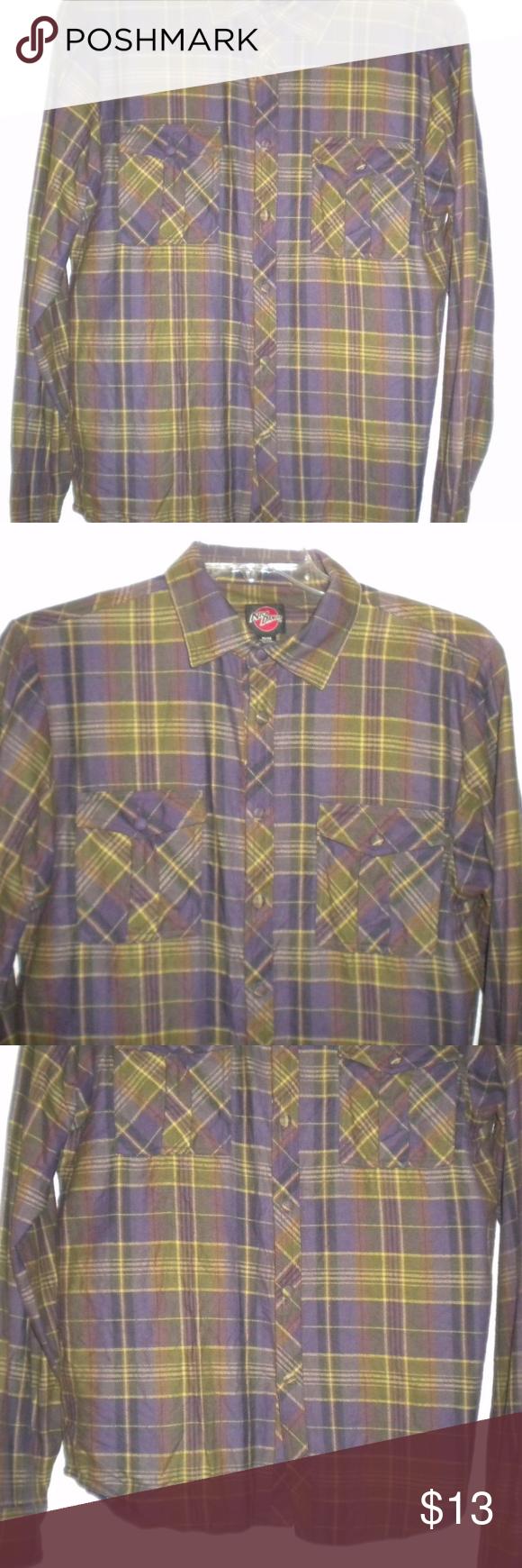Flannel shirt apron  Nick Danger Men Size Medium Flannel Shirt  Flannel shirts Plaid