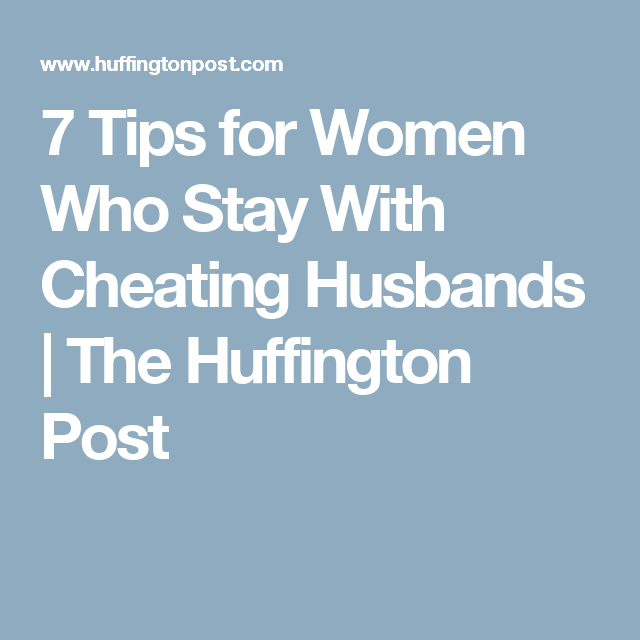 when husbands cheat
