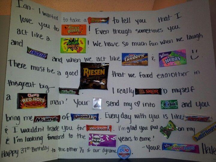 Candy Birthday card Birthday Pinterest – Candy Birthday Card