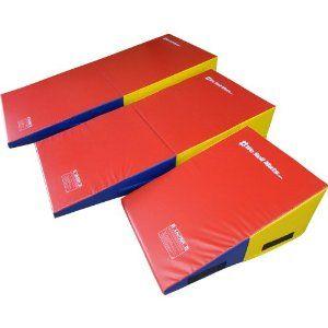 Amazon Com We Sell Mats Gymnastics Non Folding Incline Cheese Wedge Skill Shape Tumbling Mat Rainbow 33 Long X Gymnastics Equipment Gymnastics Tumble Mats