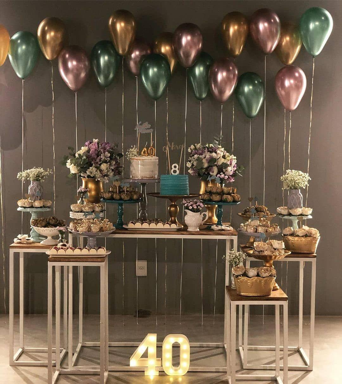 MMTX Globos de Fiesta de Cumplea/ños para Adultos Hombres Mujeres Decoraciones Cumplea/ños Estandarte Primeros de la Torta y Cadena de luz LED para 18a/ño 20a/ño 30a/ño 40a/ño 50a/ño Cumplea/ños