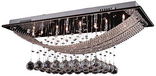 DINGGU™ Luxuriöse Kristall Pendelleuchte Mit 8 Lampen,  Deckenleuchte Befestigung Flush Mount Kronleuchter