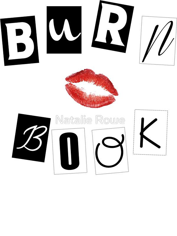 Book Cover Forros Meaning ~ 'mean girls burn book sticker by natalie rowe