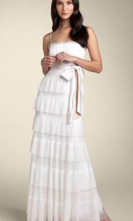 Bcbg Maxazria Lace Tulle Tier Gown Wedding Dress New Size 4
