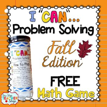Fall Problem Solving Math Game | Teaching Upper Elementary | Pinterest