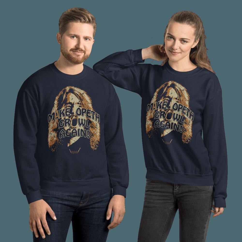 Make Opeth Growl Again | Unisex Sweatshirt - Navy / 4XL