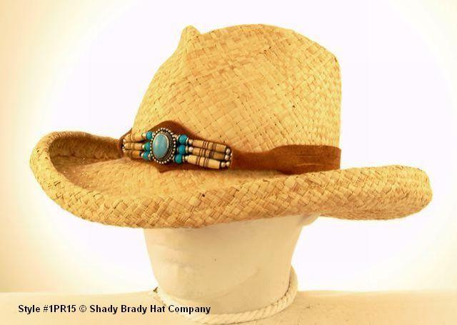 96c780fc5fd Old Trading Post – Women s Sun Blocker Straw Hat Raffia Pinch Front ...