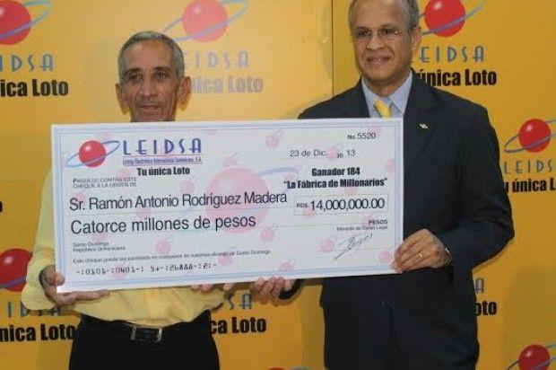 Vigilante gana RD$14 millones en la Loto - Cachicha.com