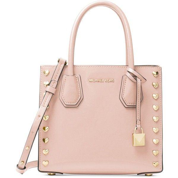 4aebf01b32d5 Michael Michael Kors Mercer Medium Messenger ($258) ❤ liked on Polyvore  featuring bags, messenger bags, soft pink, michael kors messenger bag, pink  bag, ...