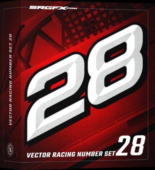 Vector Racing Number Set 28 School Of Racing Graphics Graphic Design Fonts Graphic Design Software Racing