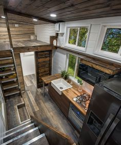 The two bedroom lofts are connected by  catwalk and there is vented catio that cats can access via dropdown from top loft as well an also tiny house design ideas to inspire you home decor rh pinterest