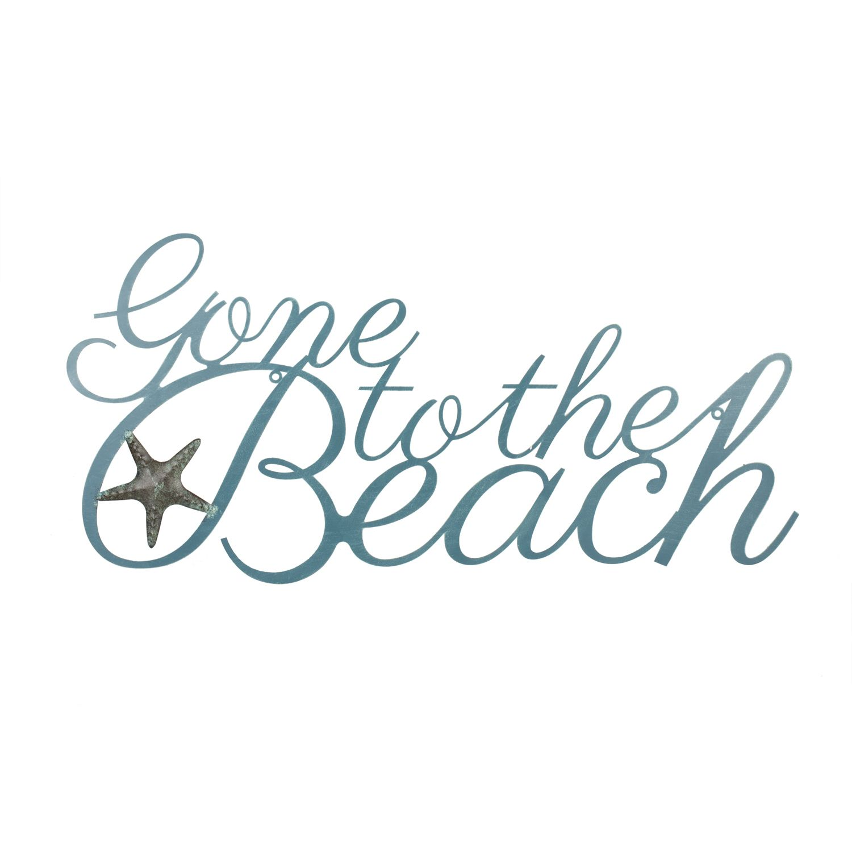 Gone To The Beach Metal Wall Art Beach Signs Nautical Wall Art