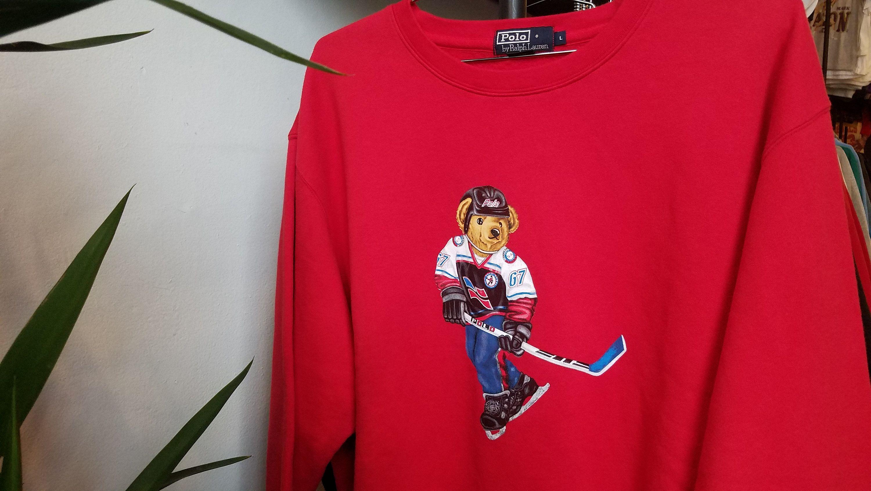 347b519a8611f Polo Ralph Lauren Hockey Bear Sweatshirt - Nils Stucki Kieferorthopäde