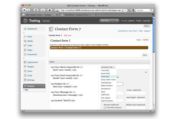 Plugins WordPress para criar formulário de contato
