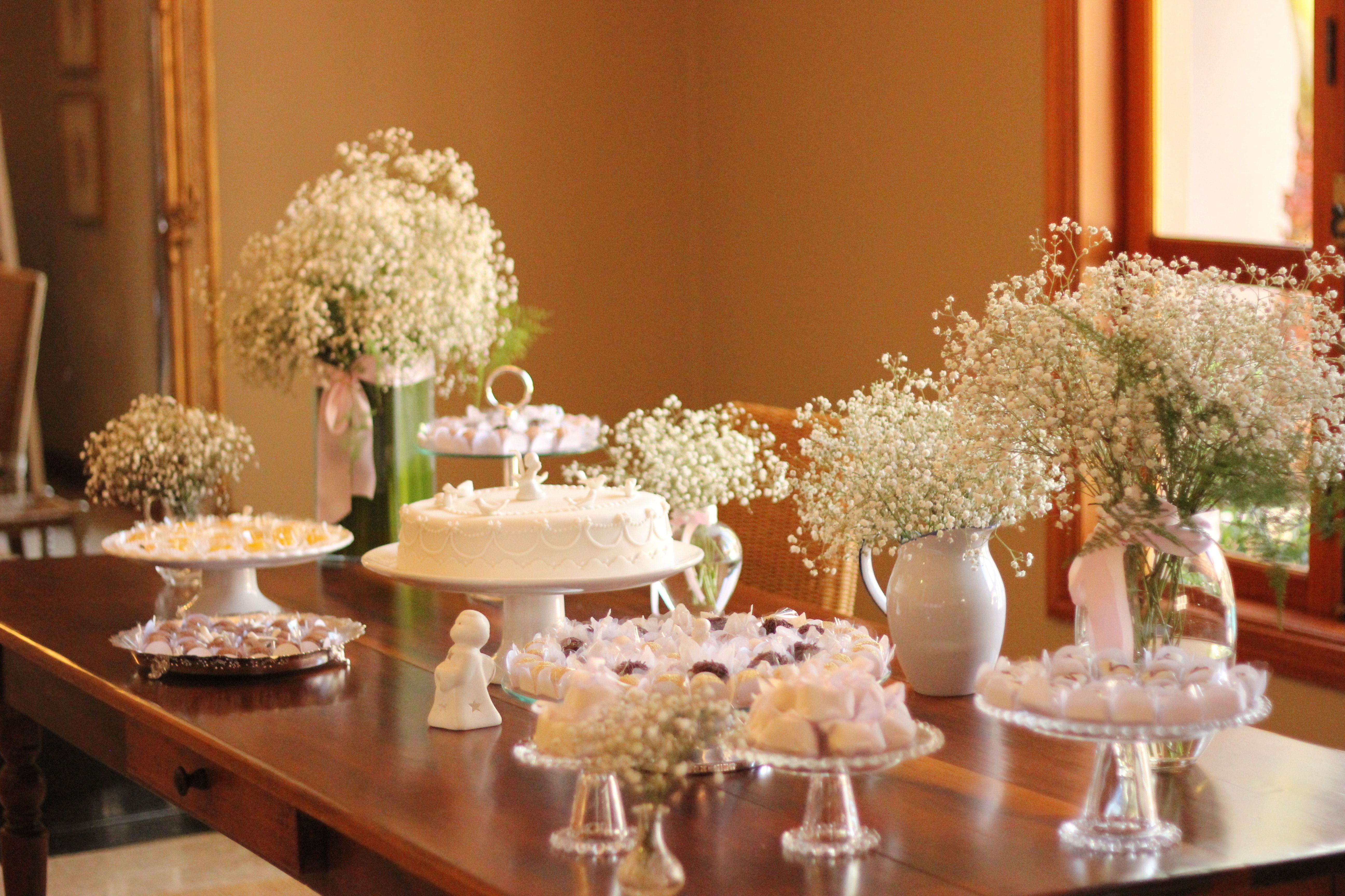 Christening Table Decoration | Party ideas | Christening ...