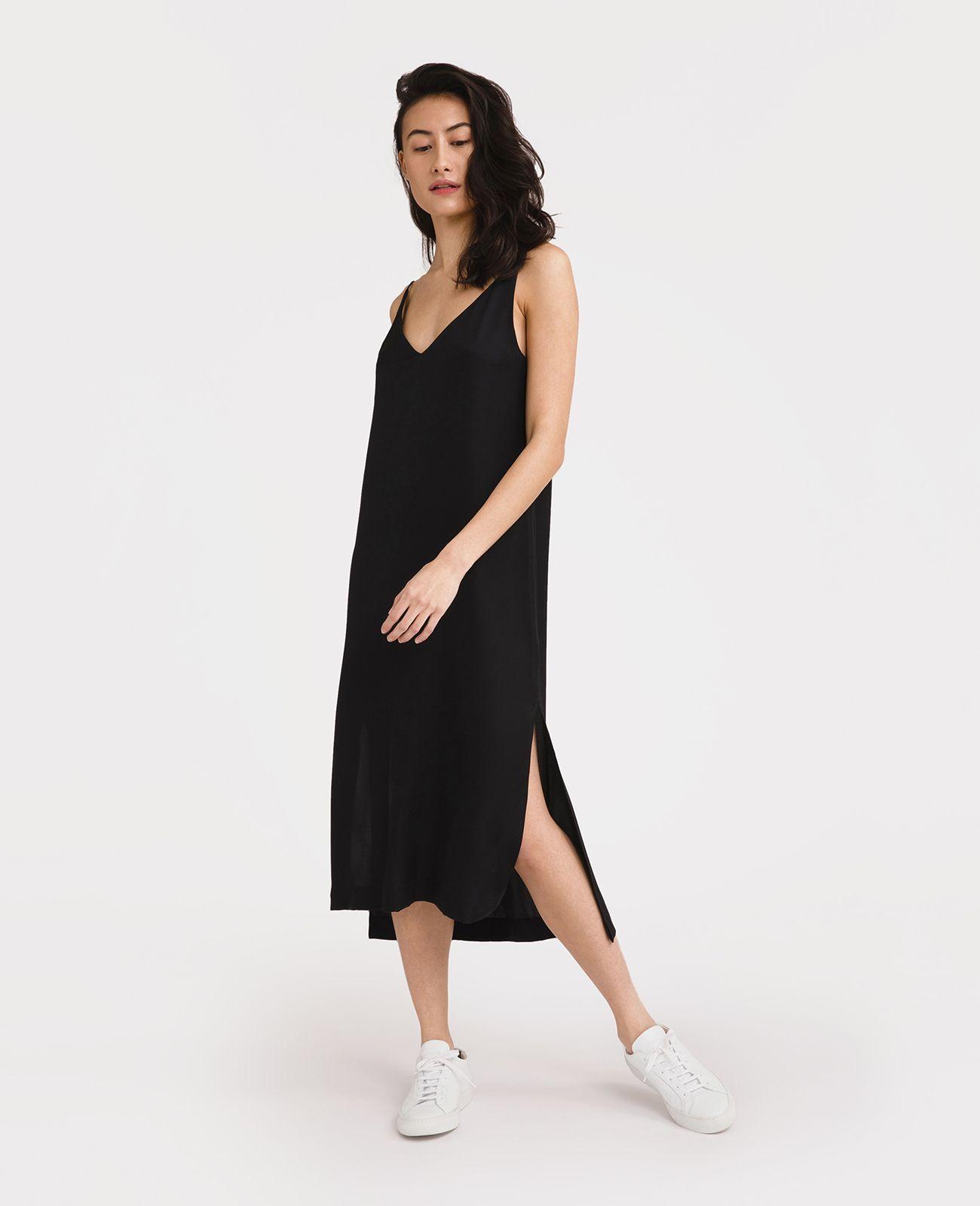 86f09d9ac0b9 Silk V-Neck Slip Dress   gimme   Pinterest   Dresses, Silk and V neck