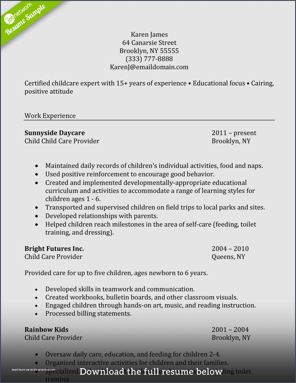 39 Resume For Caregiver