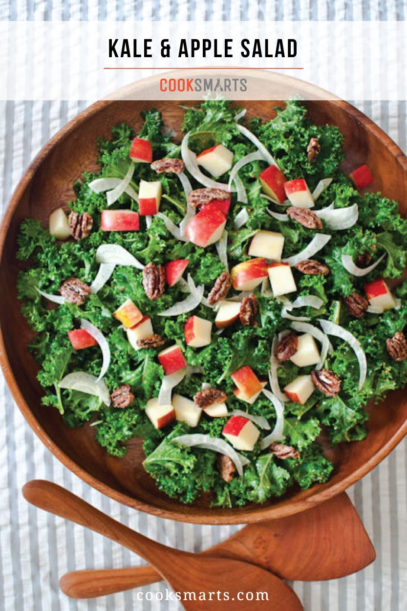 Kale Salad With Apples Fennel And Candied Pecans Recipe