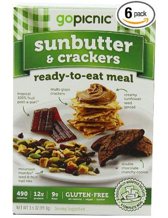 GoPicnic Ready-To-Eat Meals: Sunbutter & Crackers, 3.6 ...